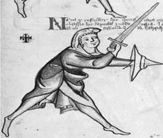 Εικόνα 12 β. Σταυρωτή θέση φύλαξης από το MS I.33.Από το αρχείο φωτογραφείων του κ. Timothy Dowson.