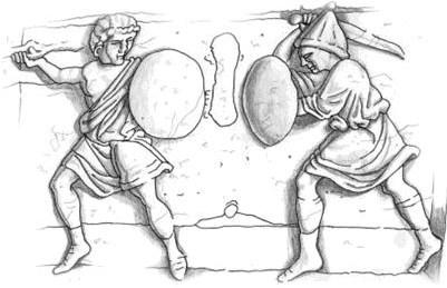 Εικόνα 14.Αναμέτρηση πολεμιστών. Από το ερημητήριο του St, Petersburg, Εκθεμα. no. w18.Από το αρχείο φωτογραφείων του κ. Timothy Dowson.