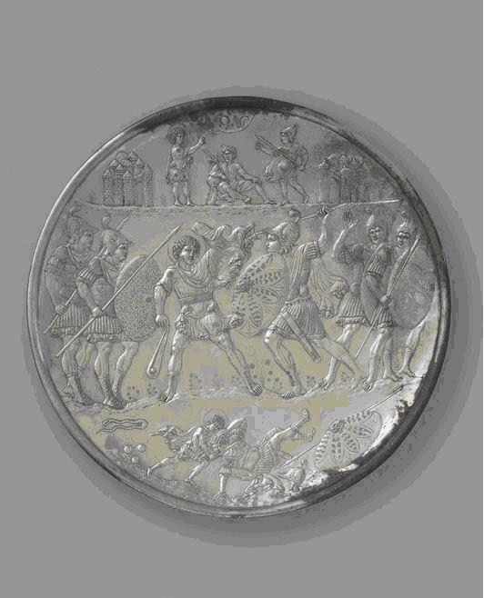 H μάχη του Δαβίδ με τον Γολιάθ, Αριστούργημα της Πρωτοβυζαντινής τέχνης που προέρχεται από την Κωνσταντινούπολη Metropolitan Museum of Art.
