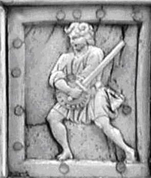 Metropolitan Museum of Art, NY, έκθεμα με πολεμιστές και μυθικές φιγούρες, κατασκευάστηκε στη Κωνσταντινούπολη το 10ο αιώνα μ.Χ. Από το αρχείο φωτογραφείων του κ. Timothy Dowson.