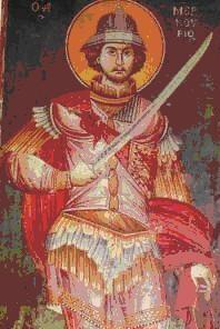 Στην εικόνα του Αγίου Μερκούριου φαίνεται το σπαθί τύπου παραμήριου.
