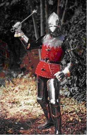 Ιταλική πανοπλία του 14ου αιώνα. Όποιος μελετήσει το MS I.33 θα καταλάβει ότι οι τεχνικές που περιγράφει δεν μπορούν να εφαρμοστούν σε πολεμιστές που φορούν τέτοιου τύπου πανοπλία.