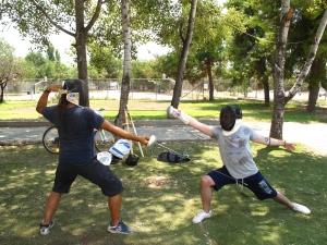 Εκπαίδευση Κλασικής ξιφασκίας στις αθλητικές εγκαταστάσεις του Σ.Ε.Φ στο Π. Φάληρο.
