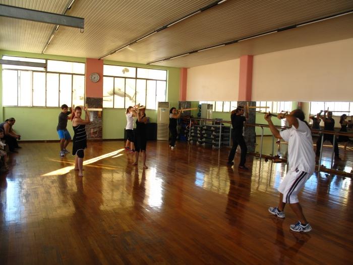 Φωτ. Μάθημα στο γυμναστήριο Top Fit στο Πειραιά