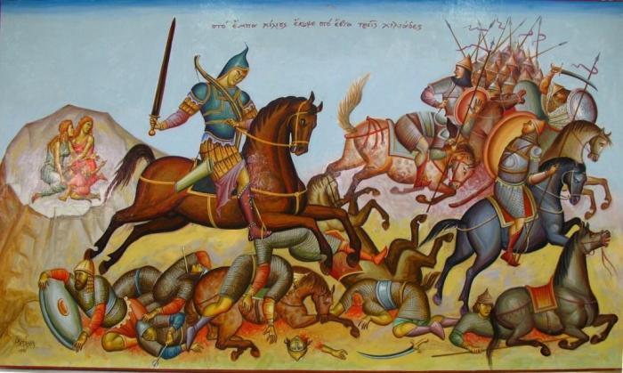 Πίνακας του αγιογράφου και μέλους της Ακαδημίας Ιστορικών Ευρωπαϊκών Πολεμικών Τεχνών,Δημήτριο Σκουρτέλη