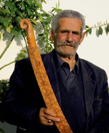. John Polychronakis was one of the last sword staff maker