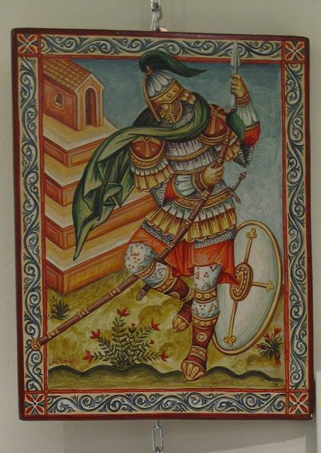 Η εικονογράφηση του άσματος του Αρμούρη, έργο του ίδιου.