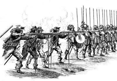 Οι Μουσκετοφόροι του Βασιλιά  υποστηρίζουν Λογχοφόρους κατά τη περίοδο το 1635