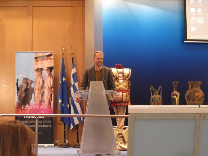 Ο Διευθυντής μάρκετινγκ του 'ΤV5 Monde' για την Ευρώπη κ. Genestine Arnaud,
